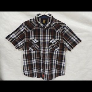 Dickies Usa T-shirt XL Brown , White , Black